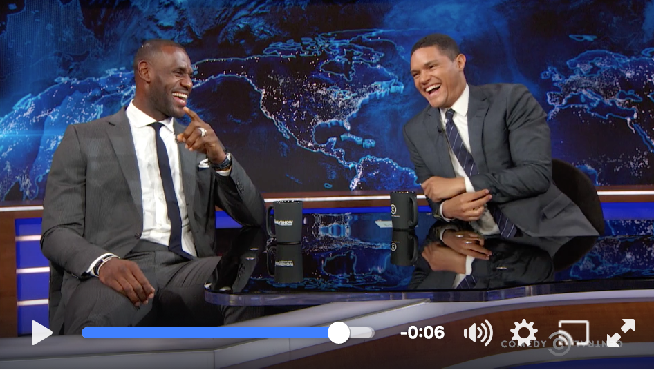 Executive Producer LeBron James on the Daily Show